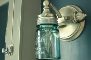 DIY Ball Mason Jar Sconce Light
