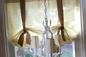 DIY Feed Sack Curtains