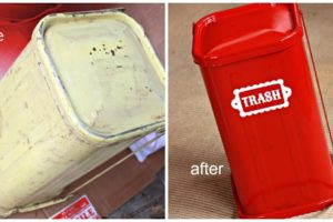 Vintage Trash Can Makeover