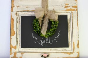 DIY Chalkboard Door for Fall
