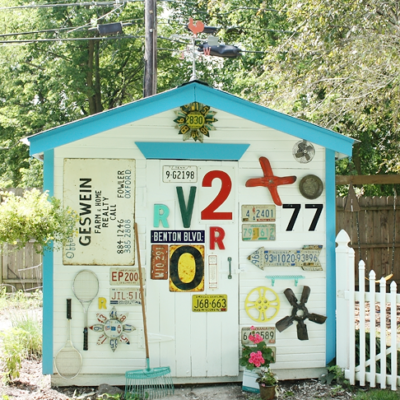Vintage Backyard Shed Makeover