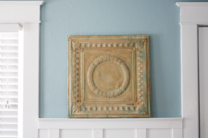 Repurposed Vintage Tin Ceiling Wall Decor