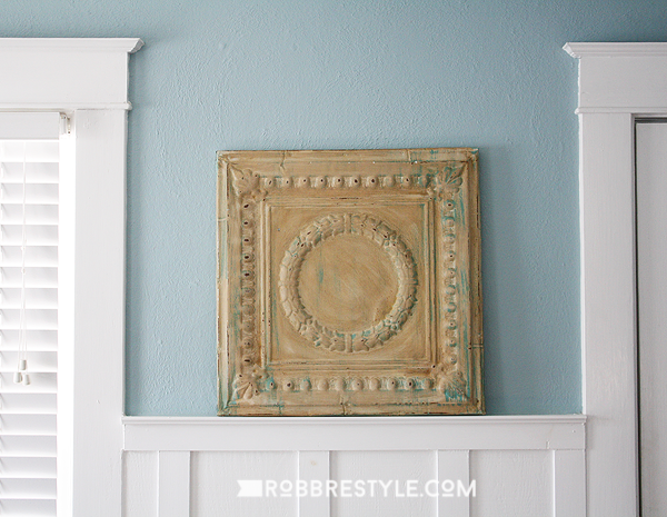 Repurposed vintage tin ceiling wall decor robb restyle - Different types of decorative ceiling tiles you can find ...