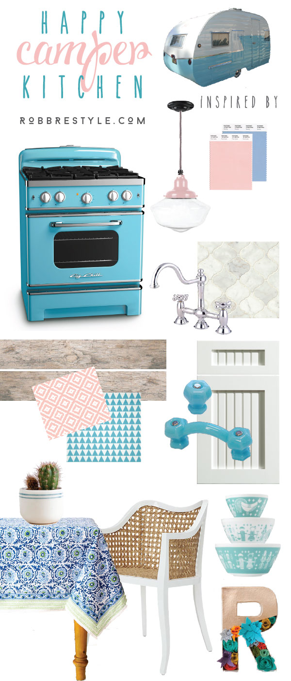 beach blue stove