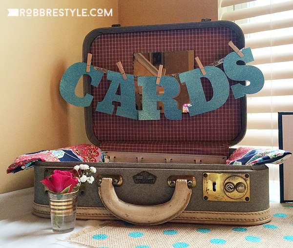 DIY Graduation Party - Repurposed Suitcase for Cards & DIY Graduation Party Ideas | Robb Restyle