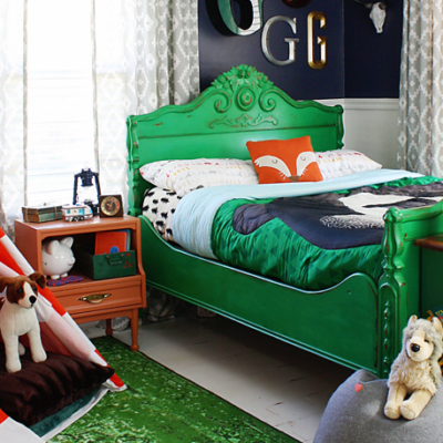 Vintage Camping Boy's Bedroom Retreat
