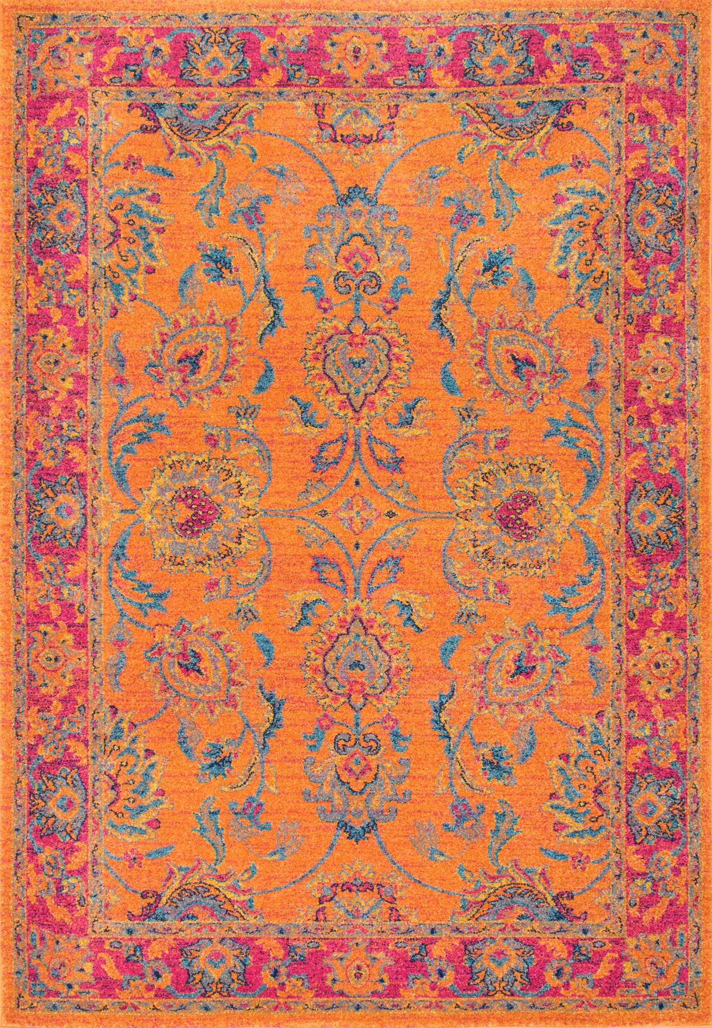 affordable bold colorful rug