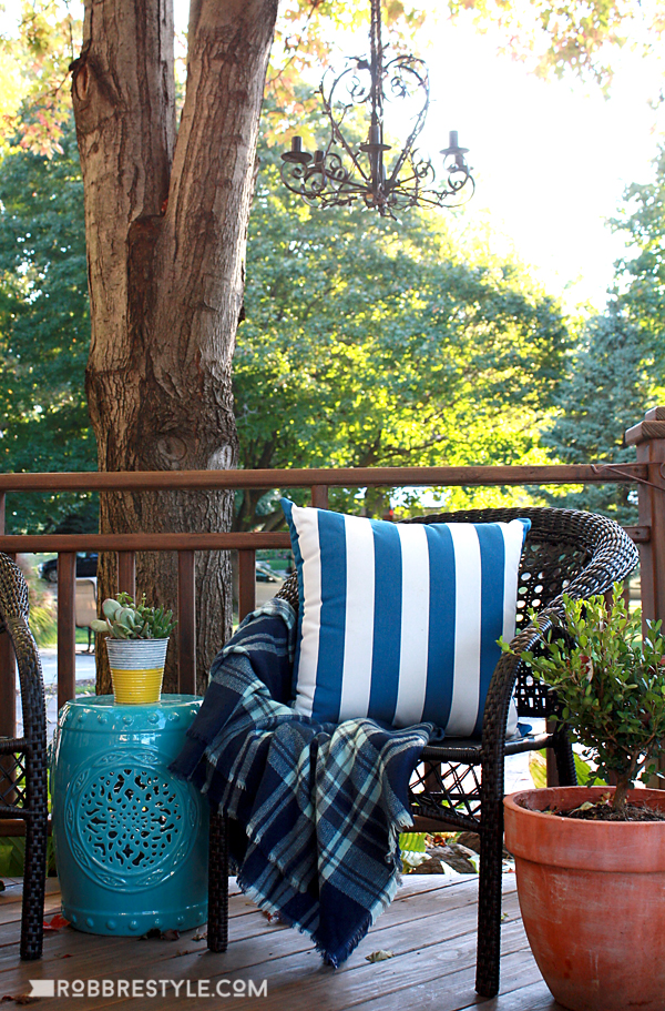 DIY Farmhouse Style Deck Makeover