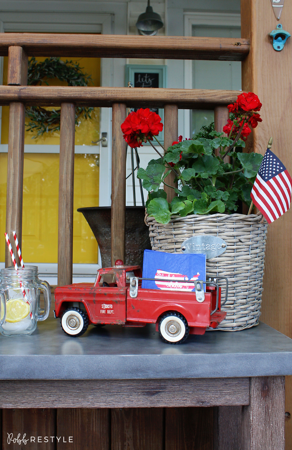 vintage america party decor robb restyle