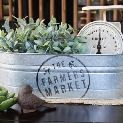 DIY Farmer's Market Bucket Decor