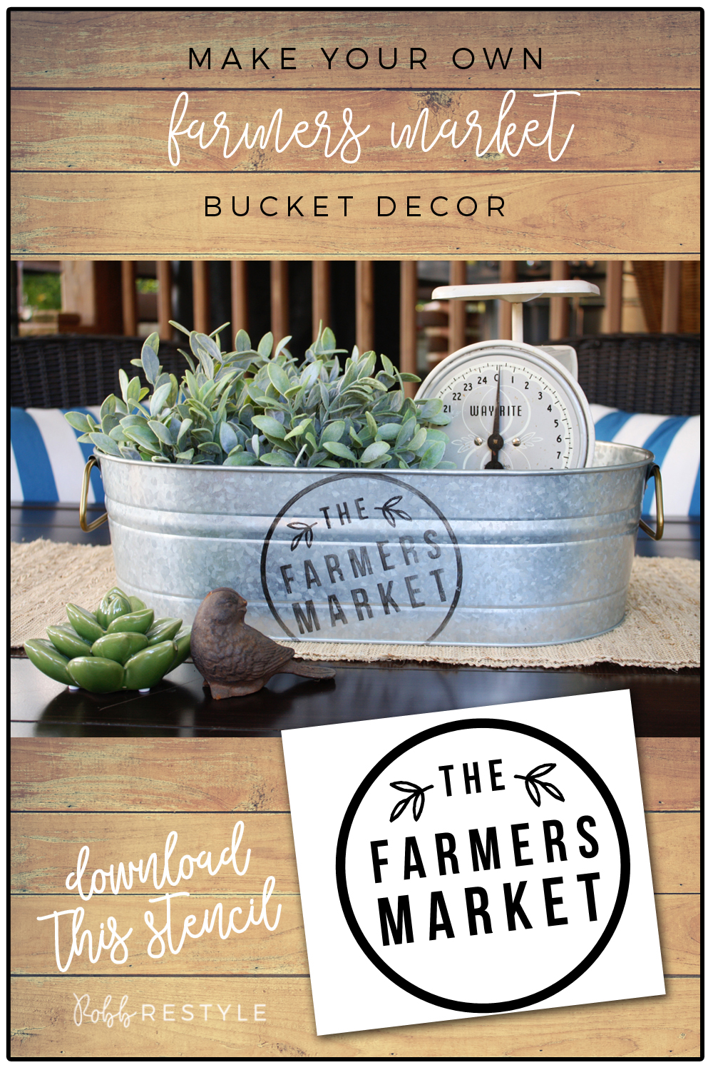 Diy Farmer S Market Bucket Decor Robb Restyle