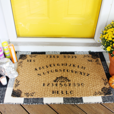 DIY Halloween Spirit Board Mat