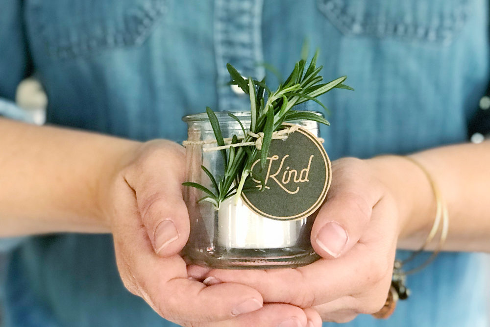 Repurposed Yogurt Jar Votive Gift Idea