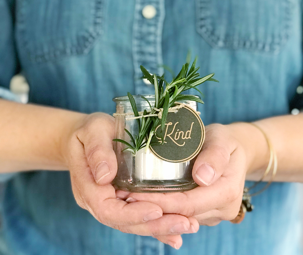 Repurposed Yogurt Jar Votive Gift Idea | Robb Restyle